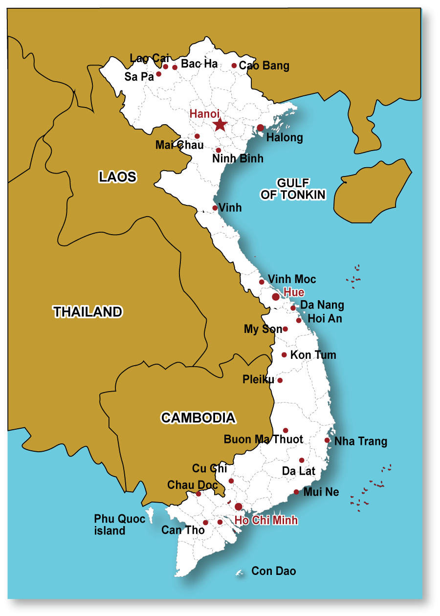 Tonkin Travel map-Vietnam | Tonkin Travel